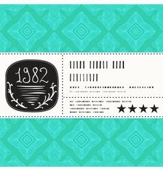 stylization vintage label design vector image