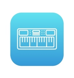 Synthesizer line icon vector image