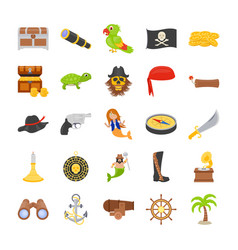 the pirates flat icons vector image