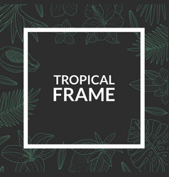 tropical banner template square frame with exotic vector image