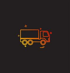 truck icon design vector image