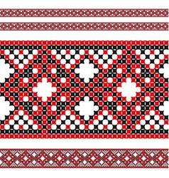 ukrainian pattern 02 vector image vector image