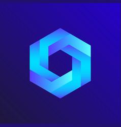 Unreal optical hexagon isometric drawing vector