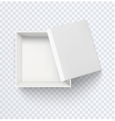 white empty box top view realistic half open vector image