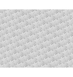 background made from white puzzle pieces vector image vector image