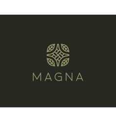 Elegant linear logo design Creative vector image vector image