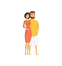 happy young lovely couple icon vector image