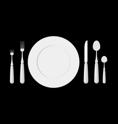 table etiquette cutlery forks spoons and knives vector image vector image