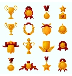 Awards Cartoon Set vector image vector image