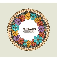 bohemian bacground design vector image vector image