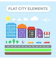 Flat City Elements vector image vector image