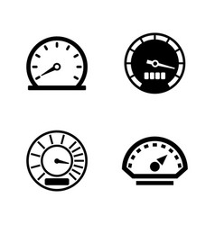 speedometer simple related icons vector image