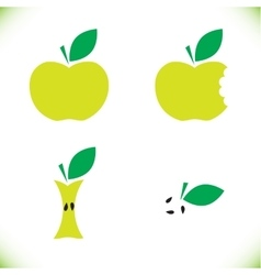 Very tasty green apple vector image
