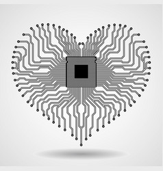 abstract electronic circuit board in shape of vector image vector image
