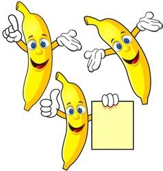 Banana cartoon character vector