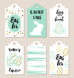 easter tags for holiday sale vector image vector image
