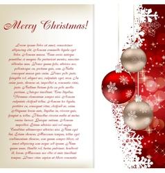 Elegant Christmas card template vector image