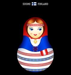 Matryoshka finish girl vector image vector image