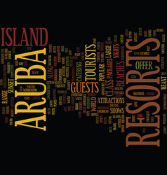 aruba resorts citadels of hope text background vector image vector image