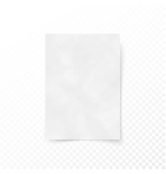 empty paper letter white sheet template paper and vector image