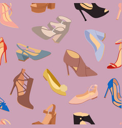 womens shoes flat fashion footwear design vector image