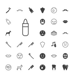 33 mouth icons vector
