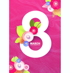 8 march international women s day poster template vector image