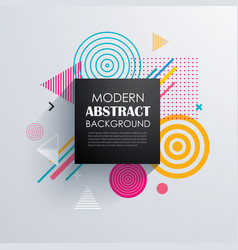 abstract geometric pattern design and background vector image