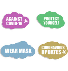 Against coronavirus icon covid-19 icon vector