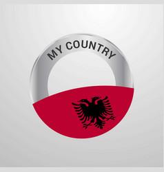 Albania my country flag badge vector