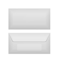 Back and front of realistic Envelope Template vector image