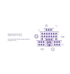 banking web banner with copy space business vector image