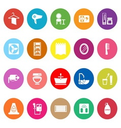 Bathroom flat icons on white background vector