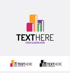 book logo modern color style vector image