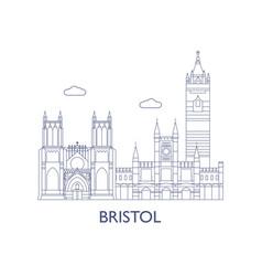 bristol vector image