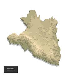 burundi map - 3d digital high-altitude vector image