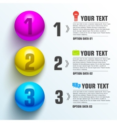 Business sphere infographic template with text vector