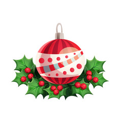 christmas ball with other decorative elements vector image