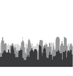 City skyline silhouette vector