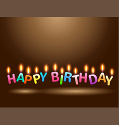 colorful candles happy birthday celebration vector image