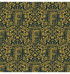 Damask seamless pattern repeating background Gold vector