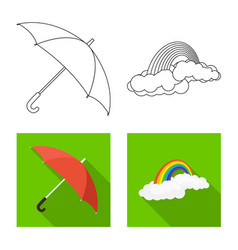 Design of weather and climate symbol set vector