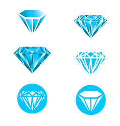 Diamond logo set vector