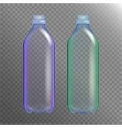 Empty Transparent Bottle Set Realistic Blank vector