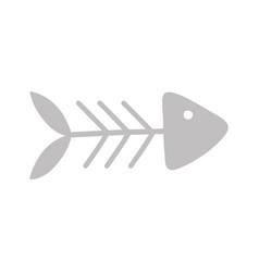 fishbone food icon on white background cartoon vector image