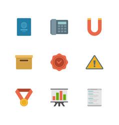 flat design icons business symbols vector image