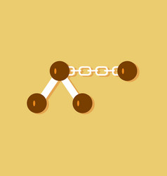 Flat icon design collection molecule on the chain vector