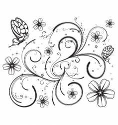 floral nature design vector image