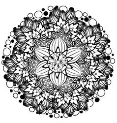 Flower Ornament Black and White3 vector