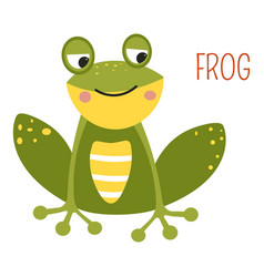 Frog cartoon south east asia animal vector